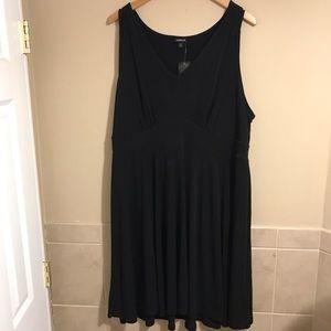 NEW Torrid Black Mini Dress Sleeveless Plus 3X